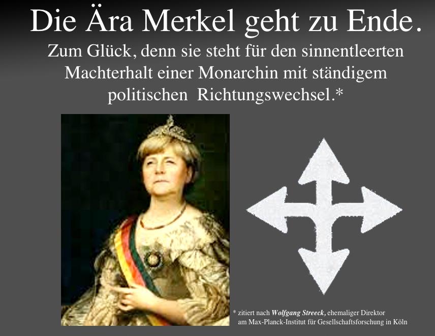 """FAZ: """"Die Ära Merkel geht zu Ende. Zum Glück, denn sie steht für den sinnentleerten Machterhalt einer Monarchin"""""""