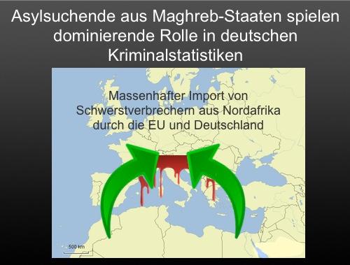 """Der Import von Massenkriminalität durch Merkel: """"Asylsuchende aus Maghreb-Staaten spielen dominierende Rolle in deutschen Kriminalstatistiken"""""""