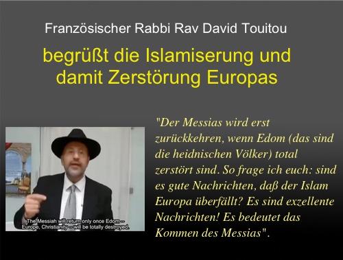 Französischer Rabbi begrüßt überschwenglich die »islamische Invasion Europas«
