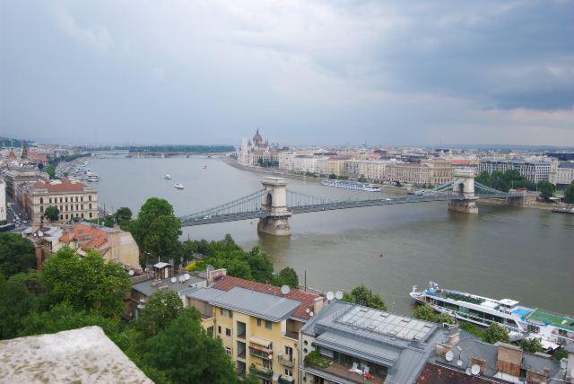 Вид с Крепостной горы на Дунай и Цепной мост