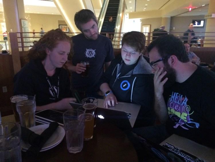Computering at a bar