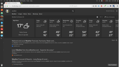 Weather info so I never have to go outside inappropriately dressed again.