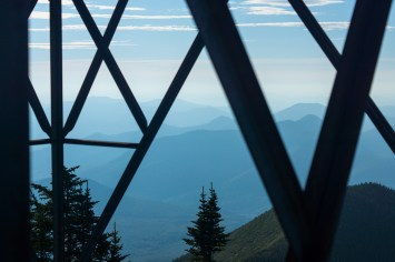 Under the fire tower in NH.