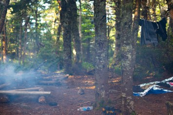 Camping in NH.