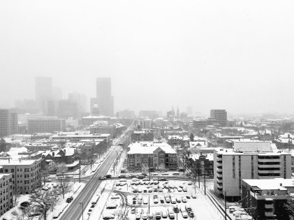 Snow in Denver.