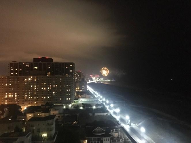 Weekly fireworks on the Jersey boardwalk.