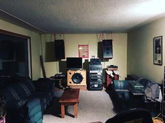 Jim's amazing audio setup in BC. Thanks again, Jim!