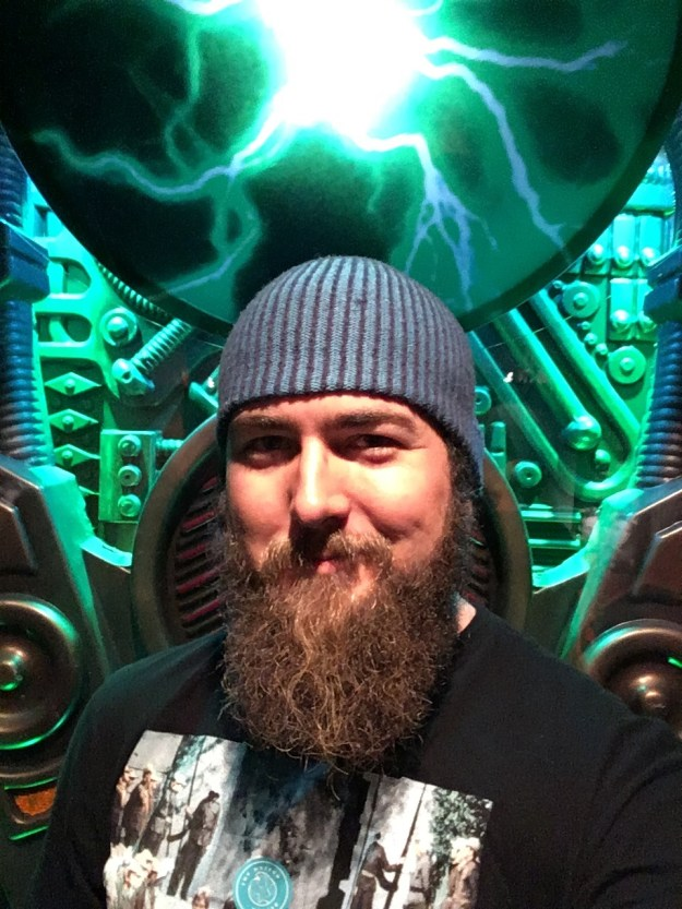 Selfie from the scifi section of the EMP in Seattle.