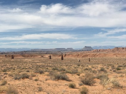 Scenic view just north of Hanksville. That we then drove into for lunch.
