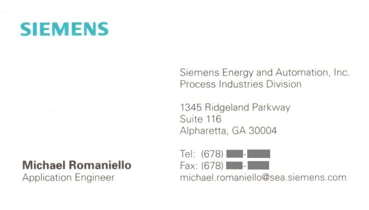 Siemens E&A, Application Engineer