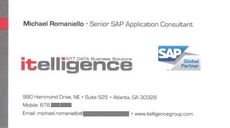 Sr. SAP Consultant, itelligence Group