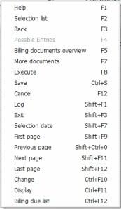 The normal right-click menu.