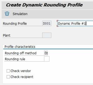 Dynamic Rounding Profile