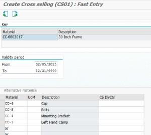 Transaction VB41 - Adding additional CS items.