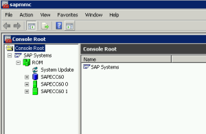 SAP Management Console