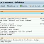 Delivery - Environment --> Changes (VL02n, VL03n)