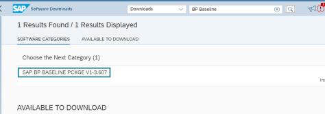 Click 'SAP Baseline...'