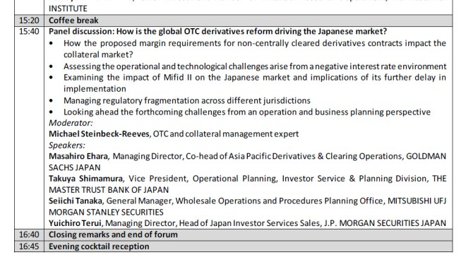 Collateral Management Japan 2016 Panel 3