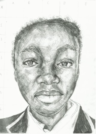 Year 7_Pencil_Self-portrait