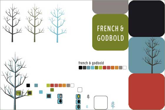 French & Godbold logo designs in progress