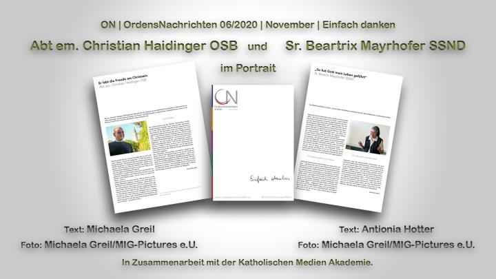 Jetzt online nachlesen: Er lebt die Freude am Christsein – Abt em. Christian Haidinger OSB im Portrait – 6D / Ordensnachrichten exklusiv / KMA / #einfach danken