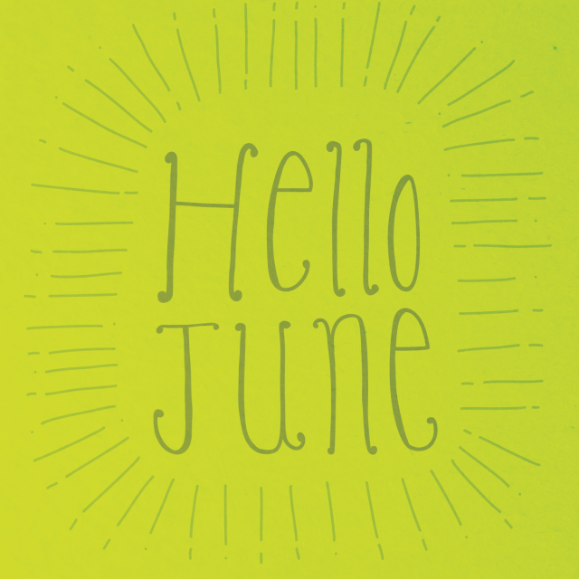 Hello June Hand Lettering Day 1
