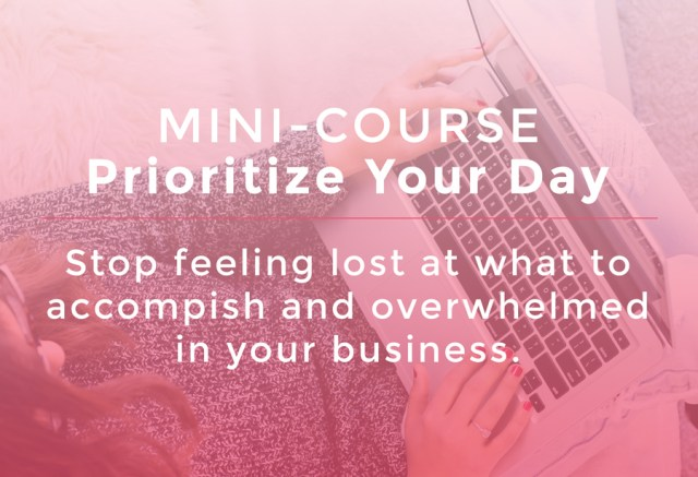 Prioritize Your Day Mini-Course