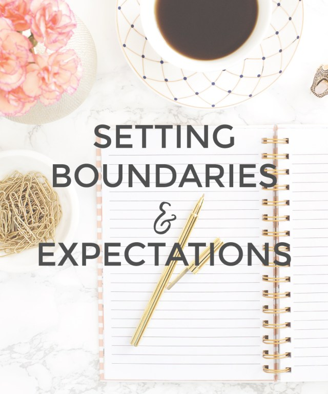Set Boundaries & Expectations in your Small Business | michaelahoffman.com