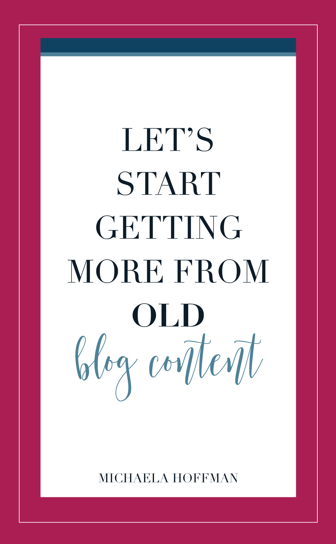 Do you hate creating content for your online business? Here is how I get more life out of my old blog content without having to create new content and stress out about yet another thing I need to do to grow my online business