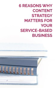 Blue stack of books - 6 Reasons Why Content Strategy Matters for Your Service-based Business
