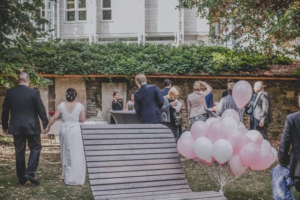 Ballons HochzeitRosa Vintage