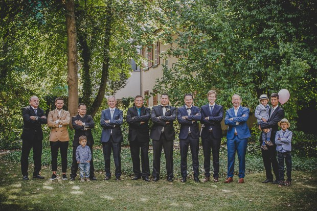 Gruppenfoto Bräutigam