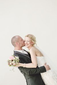 Kuss Brautpaar Foto Hochzeitsfotografin Michaela Klose Paarfotos