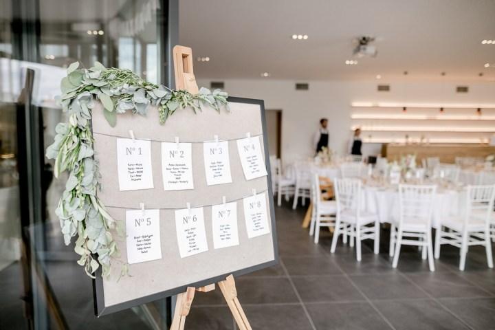 Tischplan Weingut Kurz Wagner Hochzeitsreportage