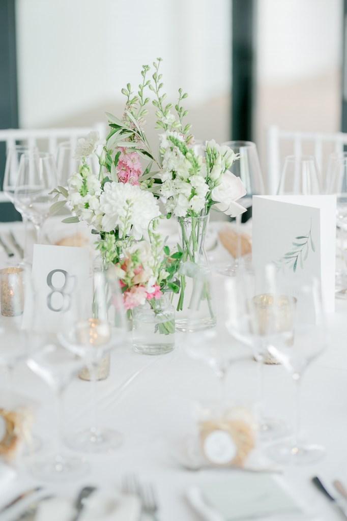 Tischdekoration Hochzeit Weingut Kurz Wagner