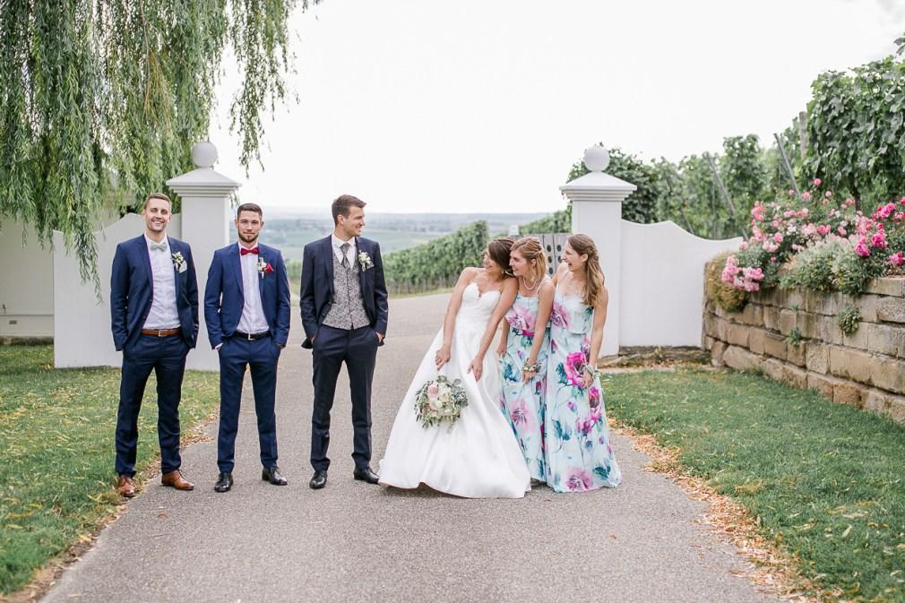 Trauzeugen Bridal Party Gruppenbild Hochzeit