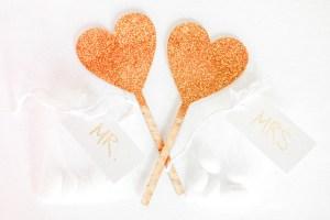 Hochzeitsdeko Gold Glitter