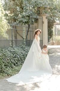 Braut und Tochter Blumenmädchen Morrhof