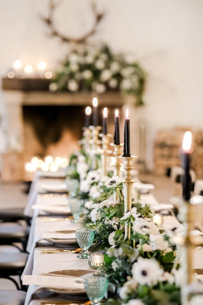 Winterhochzeit Hochzeitsdekoration Burghochzeit