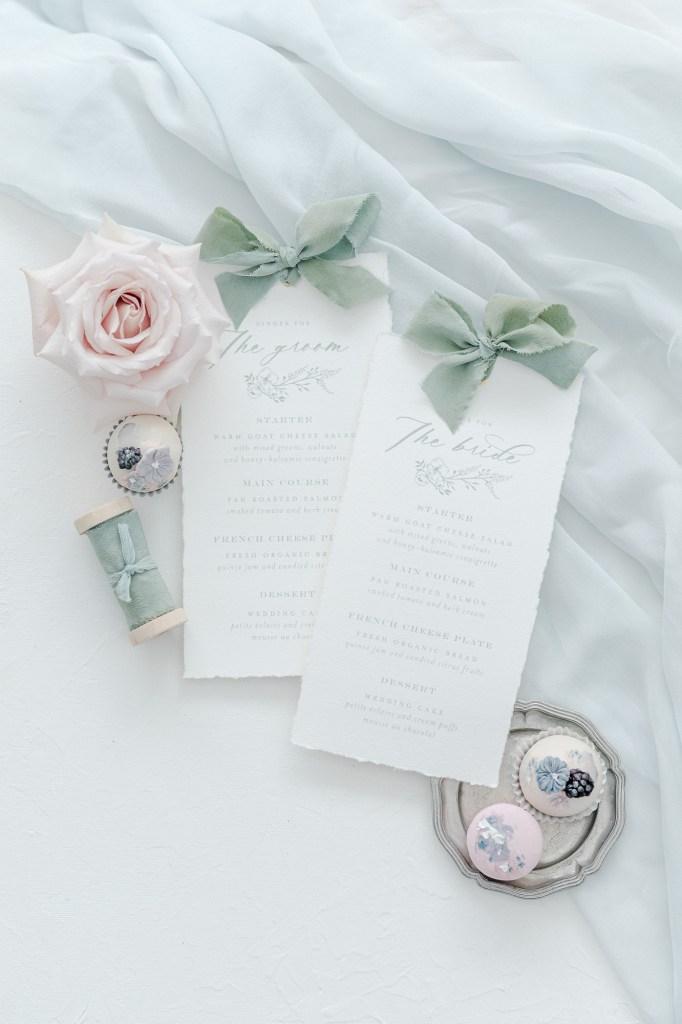 Menükarte Fine Art Papeterie Hochzeit Platzkarten