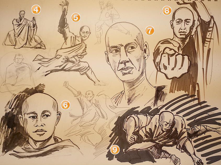 Concept Art: Po the Shaolin Monk