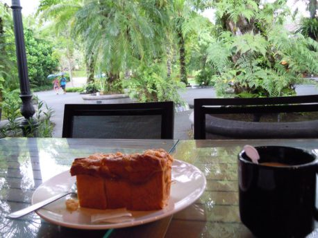 We enjoyed stopped at one place and enjoying coffee and cake