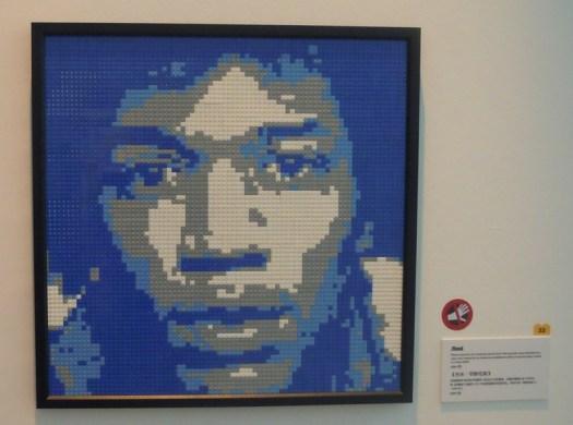 Portrait made of LEGOS by Nathan Sawaya