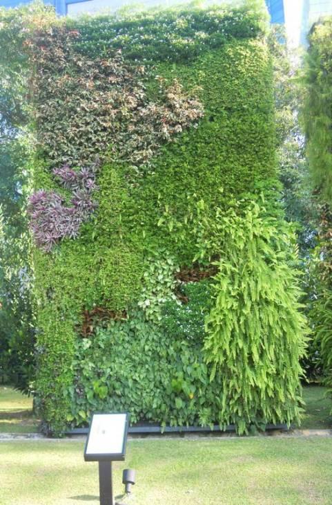 Vertical Garden at Hort Park in Singapore