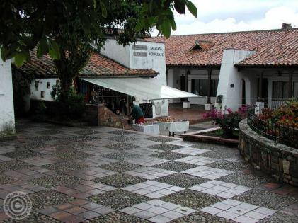 Part of the town area of Guatavita