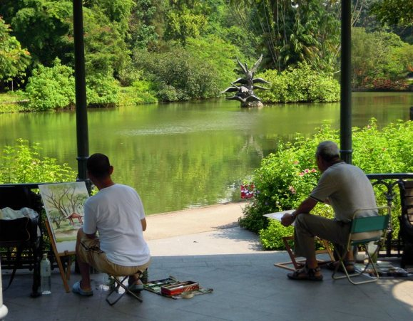 Artists and photographers flock to the Singapore Botanical Gardens
