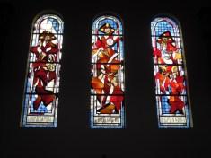Stained glass window in 20 de Julio