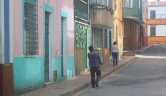 Colorful houses on street in Candelaria