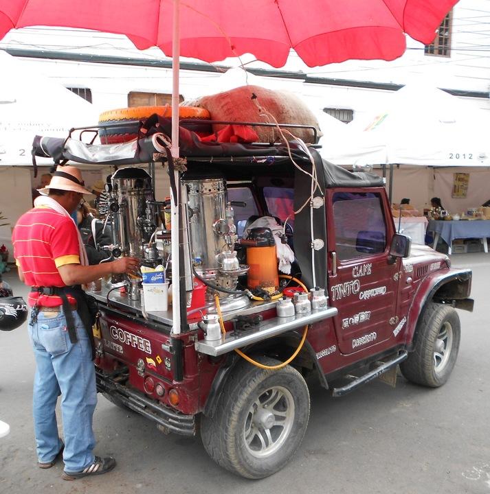 Unique and Innovative Coffee Jeep in the pueblo of Tenjo