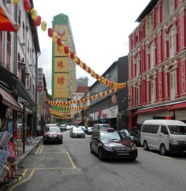 One of the street scenes in Chinatown Singapore